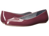 Dr. Scholl's Really Wine Patent Women's Flat Shoes Burgundy