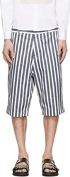Mcq By Alexander Mcqueen Black And White Vertical Striped Shorts