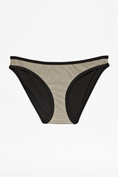 French Connection Colourblock Swim Wrap Briefs Grey