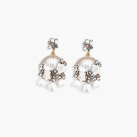 J.Crew Pre Order Garden Party Statement Earrings White