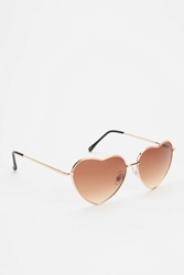 Urban Outfitters Uo Heartbreaker Sunglasses Gold