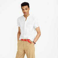 J.Crew Short Sleeve Lightweight Oxford Band Collar Shirt