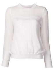 Undercover Contrast Top White