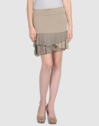 Nellandme Skirts Mini Skirts Women Dove Grey