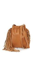 Monserat De Lucca Ano Mini Fringe Cross Body Bag Cognac
