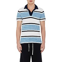 Orlebar Brown Men's Striped Ronald Polo Shirt Blue