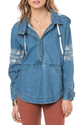 O'neill Women's 'Redwood' Embroidered Denim Pullover