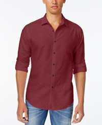 Inc International Concepts Men's Oahu Resort Shirt Only At Macy's Red