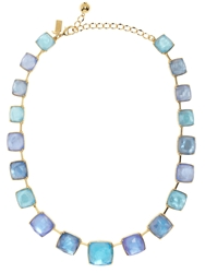 Kate Spade Madison Ave. Collection Swan Dive Collar Necklace Blue Multi