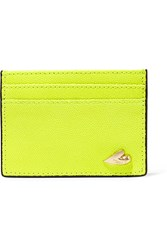 Diane Von Furstenberg Love Tuxedo Neon Textured Leather Cardholder
