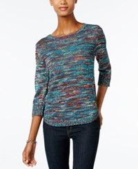 Ny Collection Petite Space Dyed Sweater Delilah
