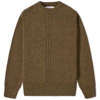 Mhl By Margaret Howell Mhl. Military Crew Knit Green