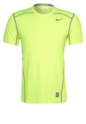 Nike Performance Pro Combat Hypercool Sports Shirt Volt Cool Grey Neon Yellow