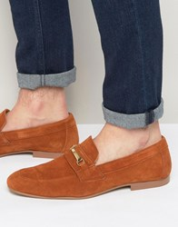 Asos Snaffle Loafer In Tan Tan