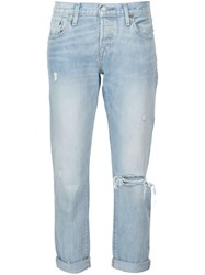 Levi's Distressed Boyfriend Jeans Blue