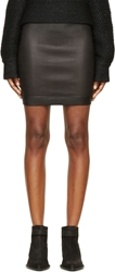 Helmut Lang Black Stretch Leather Plonge 2 Skirt