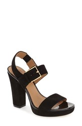 Calvin Klein Women's 'Bette' Block Heel Sandal Black Suede