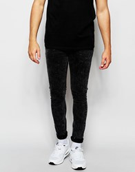 Asos Super Skinny Jeans In Acid Wash Black Washedblack