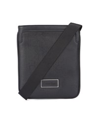 Calvin Klein Black Monogram Mini Flat Canvas Bag
