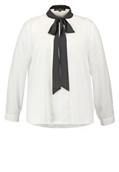 Eloquii Blouse Off White Black Off White