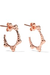 Aamaya By Priyanka Rose Gold Plated Hoop Earrings