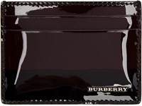 Burberry Burgundy Patent Leather Card Holder