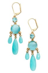 Women's Kate Spade New York Crystal Chandelier Earrings Turquoise