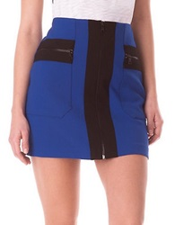 Sam Edelman Zipper Mini Skirt Blue