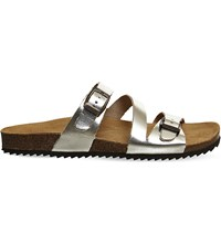 Office Bounty Metallic Leather Sandals Gold Leather