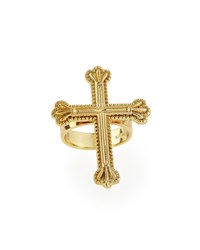 Yellow Gold Crown The Cross Ring Katie Design Jewelry