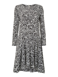 Vince Camuto Longsleeve Animal Print Dress Black