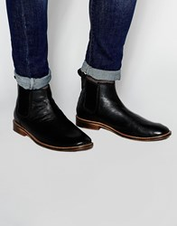 New Look Leather Chelsea Boots In Black