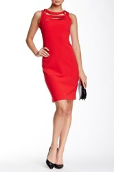 Yoana Baraschi Cannes Grid Body Dress Red