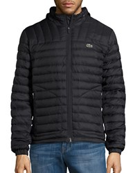 Lacoste Lightweight Quilted Puffer Jacket Black
