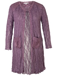 Chesca Satin Trim Lace Coat Haze