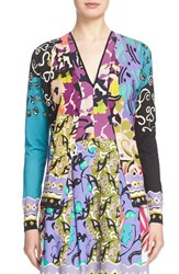 Women's Etro 'Floral Patchwork' Silk And Cashmere Cardigan