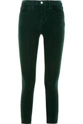 L'agence The Margot Stretch Corduroy Mid Rise Skinny Jeans Emerald