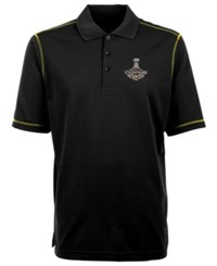 Antigua Pittsburgh Penguins Nhl Champ Icon Polo Shirt Black Gold