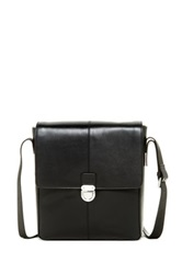 Cole Haan Smooth Leather Messenger Black