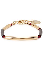 Anton Heunis Sisa Simple Red Leather Bracelet Gold