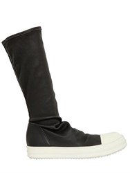Rick Owens Stretch Leather Sneakers