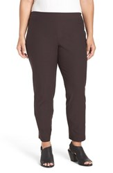 Eileen Fisher Plus Size Women's Washable Stretch Crepe Slim Leg Ankle Pants Clove