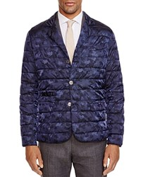 Eleventy Camo Down Slim Fit Blazer Navy