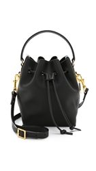 Sophie Hulme Small Drawstring Bucket Bag Black