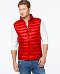 32 Degrees Packable Down Vest Red Revival