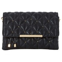 Dune Emeni Quilted Clutch Bag Black