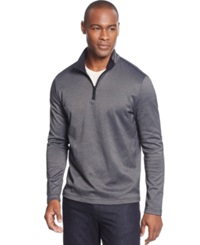 Alfani Black Fitz Feeder Quarter Zip Sweater Only At Macy's