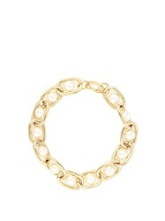 Givenchy Faux Pearl Embellished Necklace Gold Multi