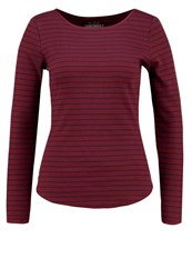 Esprit Edc By Long Sleeved Top Bordeaux Red