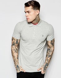 Diesel Polo T Yahei Slim Fit Jersey In Gray Gray Marl